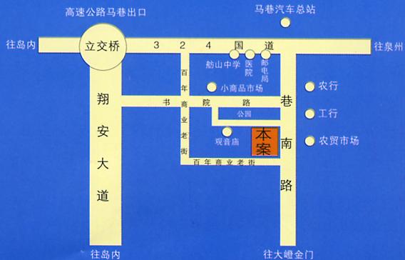 翔安区马巷镇地图_